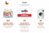 3 x voucher eMAG de 5.000 lei, 8  x mașina de spalat rufe Electrolux, 56 x Detergent Bonux pentru 1 an