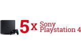 5 x Consola Sony Playstation 4 Slim (PS4 SLIM) 500GB JET BLACK F-CHASSIS