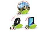 3 x Voucher excursie Happy Tour de 2500 lei, 10 x Bratara fitness Xiaomi Mi Band 3, 5 x Tableta Samsung Tab A T595 (2018)