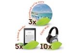 3 x Voucher excursie Happy Tour de 2500 lei, 10 x Casti Audio Sony Wireless, 5 x Ebook Kindle Paperwhite