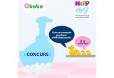 3 x HiPP Babysanft Gel de duș Piele și Par (400 ml) + HiPP Babysanft Spuma pentru spalare (250 ml) + HiPP Tricou bebe + HiPP Pernuta cu samburi de cirese + HiPP Carte de colorat + Set Creioane colorate + HiPP Ascutitoare + Sacosa de panza HiPP