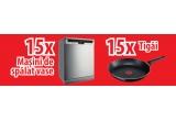 15 x Masina spalat vase Hansa ZWM 627 IEB 14 seturi 7 programe 60 cm inox, 15 x Tigaie Tefal Granit Maxy Fry Pan 26cm Papilla