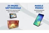 1 x smartphone Samsung Galaxy S10 128GB, 10 x joc de societate Catan Big box, 11 x rama foto digitala