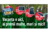1 x voucher de vacanța in valoare de 1000 de euro, 22 x Borseta Toaleta Samsonite, 33 x Rucsac Samsonite, 66 x Umbrela Samsonite