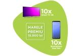 1 x 15.000 lei, 10 x televizor LED Smart Curbat Samsung UE49RU7372 123 cm 4K, 10 x smartphone Samsung Galaxy A7 (2018)