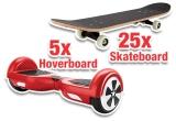 5 x Hoverboard, 25 x SkateBoard