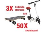 3 x trotineta electrica, 50 x SkateBoard