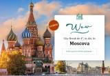 1 x city break de 4* la Moscova (4 nopți cazare la Hotel Novotel Moscow Kievskaya 4* cu mic dejun + biletul de avion + bagaj de mana 10 kg)