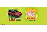 20.000 x voucher de cumparaturi de 50 ron, 10 x masina Renault Captur