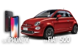 1 x mașina Fiat 500, 10 x iPhone X