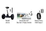 1 x trotineta electrica Ninebot electric Xiaomi QBE4015RT, 5 x Consola Microsoft Xbox One S 1 TB plus Fortnite, 10 x Bratara fitness Fitbit Charge 2 Black Silver