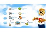 100 x Set Turnball, 45 x Zoingo-Boingo, 50 x Trambulina, 55 x Casca protectie, 1.000 x Set badminton, 200 x Racheta Tenis, 750 x Minge Volei, 800 x Minge Fotbal, 300 x Paturica Picnic