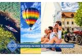 1 x zbor cu balonul cu aer cald, 1 x o zi pe yacht, 1 x experiența de caiac canoe in Delta Dunarii, 1 x weekend la castel