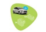 1 x mașina Ford Fiesta 2018, 3 x 5.000 lei, 10 x 1.000 lei