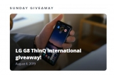 1 x smartphone LG G8 ThinQ