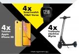 28 x iPhone XR, 28 x trotineta electrica Myria MY7009BK, 28 x smartwatch Fitbit Versa