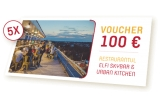 5 x voucher de 100 de euro la restaurantul Elfi Skybar & Urban Kitchen