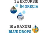 1 x vacanta in Grecia, 10 x bax Blue Drops
