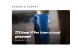 1 x smartphone ZTE Axon 10 Pro