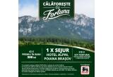 1 x Sejur pentru 2 persoane in Poiana Brasov la Hotel Alpin, 42 x 300 lei, 210 x Kit Fortuna format din cafea Fortuna Rendez-vous de 500g + 2 cescute colectie Cafea Fortuna