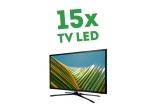 15 x televizor LED de 1500 lei