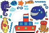 """5 autocolante speciale pentru copii """"Spirit Minifun"""" (65 cm x 85 cm). <br />"""
