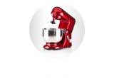 1 x Mixer Artisan 4.8L Model 2017 Empire Red – KitchenAid, 43 x Kit format din mixuri dr Oetker + sucitor + tel + retetar + 2 suporturi de ardezie