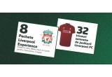 8 x Pachet Liverpool Experience pentru 2 persoane compus din: 2 nopti cazare la un hotel de 4* + transport aeroport-hotel dus-intors + 2 bilete avion + 2 bilete la meciul jucat de echipa Liverpool FC in data de 01 februarie 2020, 32 x Tricou cu semnatura jucatorilor Liverpool FC