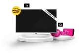 1 x televizor LED Smart Android Philips Ambilight 108 cm 43PUS7304/12 4K Ultra HD, 10 x pereche de caști personalizate Telekom + Baterie portabila