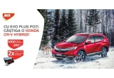 1 x masina Honda CR-V Hybrid, 1000 x card de carburant in valoare de 250 lei