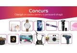 1 x dispozitiv de curațare faciala Foreo Luna Mini 2, 1 x camera foto instant Polaroid Snap Digital, 1 x smartwatch Apple Watch 3, 1 x mașina de gaurit/inșurubat Bosch Professional GSR 12V-15, 1 x televizor LED Smart Samsung, 65RU7092 4K Ultra HD, 1 x perie rotativa Rowenta Brush Active Volume & Shine 2 CF9530, 1 x periuța de dinți electrica Oral-B Pro 500 3D White, 1 x aparat de ras Philips S5110/06, 1 x ceas analog Hugo Boss, 1 x ceas analog Fossil, 1 x bicicleta fitness magnetica Kondition BMG-4100, 1 x apa de parfum Lancome La Vie Est Belle, 1 x apa de toaleta Christian Dior Sauvage, 1 x aparat slowcooker Crock-Pot SCCPRC507B-050