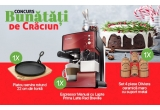 1 x Espressor Manual cu Lapte Prima Latte Red Breville, 1 x Platou servire rotund, 1 x Set 4 piese Oliviera