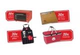 30 x cuptor microunde electric, 30 x tocator din lemn, 20 x set pentru gratar, 20 x cos pentru picnic