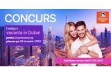 1 x Vacanta in Dubai constand in 2 bilete de avion Bucuresti-Dubai-Bucuresti + bagaj cala 20 kg + transfer aeroport-hotel-aeroport + cazare la hotel 3* cu mic dejun + asistenta turistica locala in limba romana