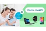 1 x laptop de 2.100 lei, 1 x tableta de 900 lei, 1 x smartwatch de 700 lei