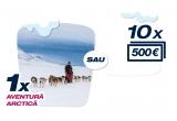 1 x voucher turistic pentru o excursie la Polul Nord de 5000 euro, 10 x 500 euro
