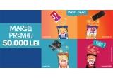 1 x 50.000 lei, 600 x voucher eMag in valoare de 300 Lei, 110 x boxa portabila JBL (mix de culori), 100 x consola Nintendo (mix de culori), 100 x camera video