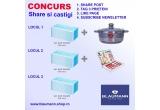 1 x pachet de 50 de masti chirurgicale + Oala din Inox Blaumann, 1 x pachet de 50 de masti chirurgicale + set de produse Blaumann, 1 x pachet de 50 de masti chirurgicale + card de cumparaturi Blaumann