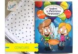 """1 x cartea cu Povesti antibullying & Povesti educative - """"Andrei si Pietricica Prieteniei"""" + Paturica din 100% bumbac"""