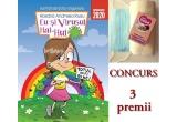 """3 x cartea inteligenta """"Eu si Virusul Hai-Hui"""" + prosopel pufos pentru copii din 100% bumbac + sapun  + masca de protectie"""