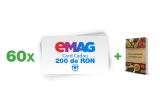 60 x voucher eMAG in valoare de 200 lei + cartea de bucate a familiei tale in format digital