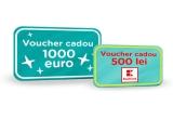 3 x voucher Bebebliss de 1.000 de euro, 60 x voucher Kaufland de 500 de lei