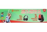 3 x monociclu electric cu o roata Airwheel X3 Black, 10 x pereche casti audio tip DJ Skullcandy Hesh Bluetooth
