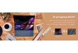 1 x notebook Asus Zenbook Duo UX481, 20 x Asus Zenkit ce contine: agenda + pix + cana + stick memorie 32GB +  mouse ASUS + port USB