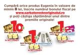 1 x ie traditionala + bax de Eugenia + 2 seturi cu 2 masti, 1 x voucher eMAG de 400 lei + bax de Eugenia + 2 seturi cu 2 masti, 10 x bax de Eugenia + 2 seturi cu 2 masti