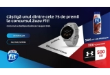 5 x smartwatch Garmin Vivoactive 4S Shadow Grey, 20 x voucher Under Armour in valoare de 500 lei, 50 x kit produse Zuzu Fit (10 sticle cu lapte proteic 500 ml + 24 batoane proteice 35 gr)