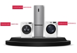 1 x Combina frigorifica LG GBB72PZDZN, 1 x Masina de spalat LG F4WV510S0, 1 x Uscator LG RC90V9AV2Q