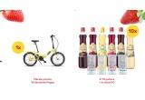 1 x bicicleta Pegas Camping Pliabila, 1 x 4 YO pahare + 6 sticle YO