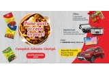 1 x masina Dacia Duster Prestige 4x4, 16 x Tableta Samsung Galaxy Tab S6 Lite, 15 x Gratar electric Tefal Optigrill + Wafles GC716D12, 15 x Slow Cooker 7.5L Digital Crock-Pot, 206 x Cutie cu gama de condimente Cosmin + manusa de bucatarie