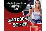 3 x 10000 euro, 90 x cafea pentru 1 an